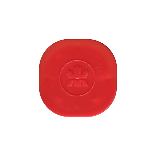 Leere rote Deckelröhre für 3/4 bis 1,5 oz Silbermünzen von RCM