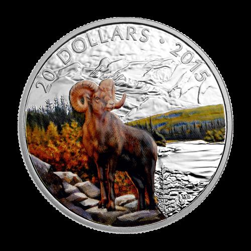 Pièce d'argent Mouflon d'Amérique 2015 de 1 once