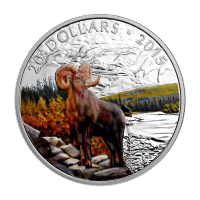 1 oz Silbermünze - Dickhornschaf - 2015