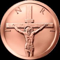5 oz Kupfermedaille - Kreuzigung - 2015