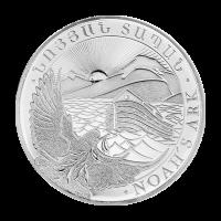 Arménská stříbrná mince Noemova archa 2015, 1 oz