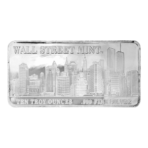 10 oz Wall Street Mint Silver Bar
