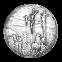 2 oz Silbermünze - biblische Serie  | Die Kreuzigung - 2015