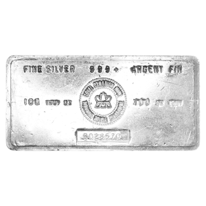100 oz Royal Canadian Mint Vintage Silver Bar