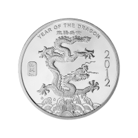 1/2 oz 2012 Year of the Dragon Silver Round