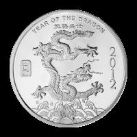 1 oz Silbermedaille - Jahr des Drachen - 2012