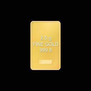 2.5 gram Assorted Gold Bar