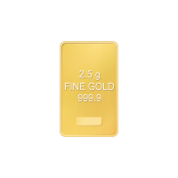 2.5 gram Assorted Gold Bar