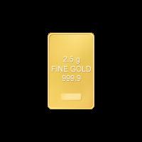 Lingot d'or varié de 2,5 grammes