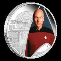 1 oz Silbermünze - Star Trek Raumschiff Enterprise Captain Jean-Lic Picard - limitiert 2015