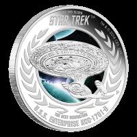 1 oz Silbermünze - Star Trek USS Enterprise NCC-1701-D - 2015 limitiert