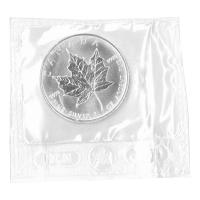 1 oz 2006 Canadian Maple Leaf Flex Forseglet Sølvmynt