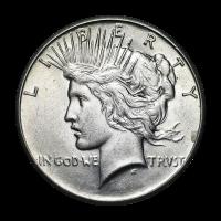Random Year Peace Silver Dollar AU Silver Coin