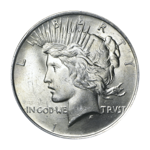 Random Year Peace BU Silver Dollar