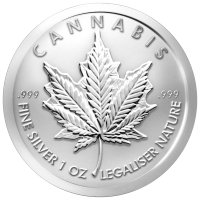 Moneda de Plata Cannabis 2015 5 oz