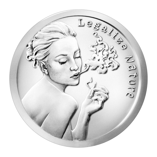 1 oz 2015 Legalize Nature Silver Round