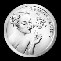 1 oz Silbermedaille - Natur legalisieren - 2015