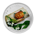 1 oz 2015 Venetian Glass Turtle with Broadleaf Arrowhead Flower Silver Proof Coin