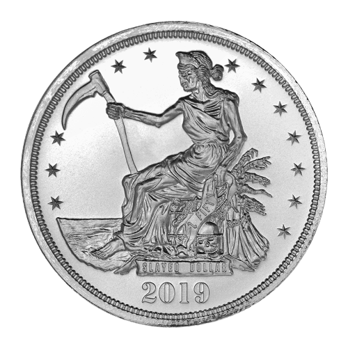 1 oz Silbermedaille - Zombucks erschlagener Dollar