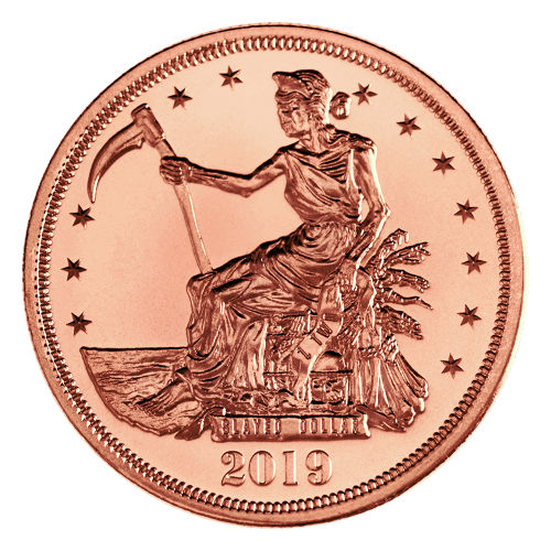 1 oz Zombucks Slayed Dollar Copper Round