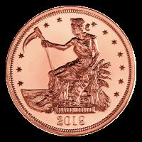 1 oz Kupfermedaille - Zombucks - erschlagener Dollar