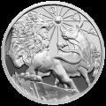Ronde d'argent Belle Epreuve (numismatique) Lion et taureau de la série Les anciens modernes 2015 de 10 onces