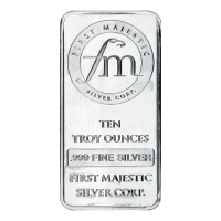 10 oz First Majestic Silver Bar