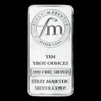 10 oz First Majestic Silberbarren