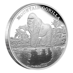 Moneda de Plata Proof Gorila de Montaña 2015 1 oz