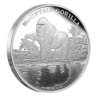 1 oz 2015 Mountain Gorilla Silver Proof Coin