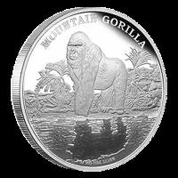 1 oz Silbermünze - Berggorilla - 2015 limitiert