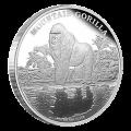 Pièce d'argent de qualité Belle Epreuve (BE) Gorille des montagnes 2015 de 1 once