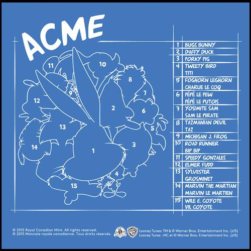 1 kg Silbermünze - Looney Tunes™ Ensemble - 2015 limitiert