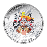 1 oz 2015 Looney Tunes™ Merrie Melodies Zilveren Proof Munt