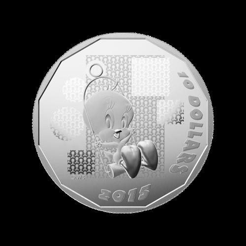 Moneda de Plata Proof Looney Tunes™ Pajarito Piolín: I Tawt I Taw A Putty Tat 2015 de 2.1 oz