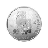 1/2 oz 2015 Looney Tunes™ | Tweety Bird: I Tawt I Taw A Putty Tat Silver Proof Coin