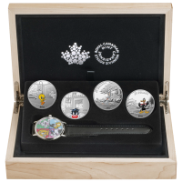 Set of 4 x 1 oz 2015 Looney Tunes� Wrist Watch Silver Proof Coins