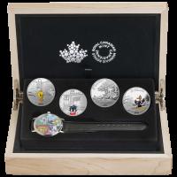 Satz mit 4 x 1 oz Silbermünzen - Looney Tunes™ Armbanduhr - 2015 limitiert