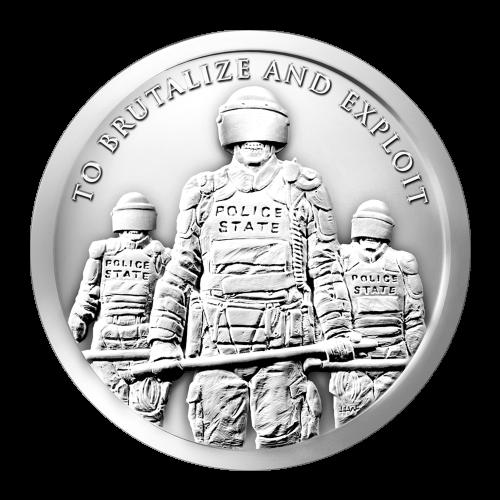 1 oz 2015 Slave Police Silver Round
