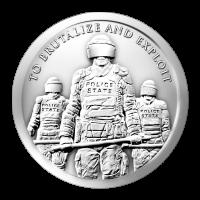 1 oz 2015 Slavenpolitie Zilveren Plak