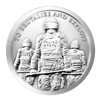 1 oz Silbermedaille 2015 - Sklavenpolizei