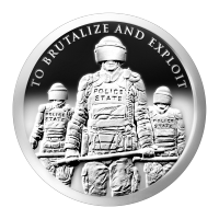 1oz 2015 Slave Police Silver Proof-like Round