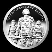 1 oz Silbermedaille - Sklavenpolizei - 2015 Zustand: Spiegelglanz