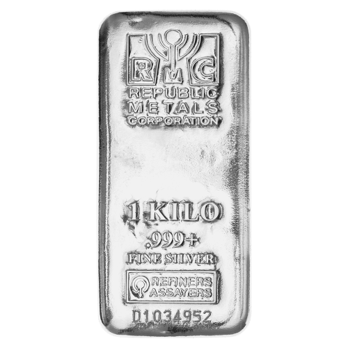 1 kg | kilo Republic Metals Corporation Silver Bar