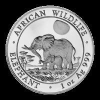 1 oz somalische Silbermünze - afrikanischer Elefant - 2011