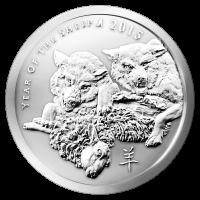 2 oz Silbermedaille von Silver Shield - Jahr des Schafs - 2015