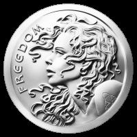 2 oz Silbermedaille - Freiheitsmädchen - 2015