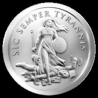 2 oz Silbermedaille - Sic Semper Tyrannis - 2015
