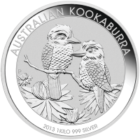 1 kg | Kilo Silbermünze australischer Kookaburra 2013