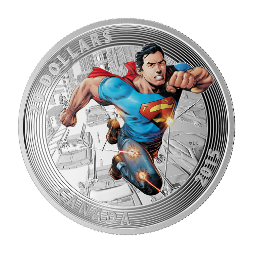 1 oz 2015 Iconic Superman™ Comic Book Covers | Action Comics #1 Silver Coin